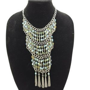 Coldwater Creek Fire Polished  Statement Necklace